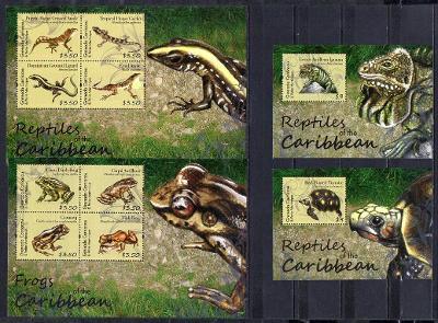 Grenada Grenadines-Plazi a želvy 2012**  Mi.4737-44+Bl.656-657 / 39 €