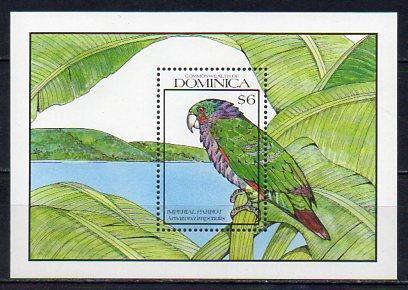 Dominica-Ptáci 1990**  Michel Bl.169 / 7 €