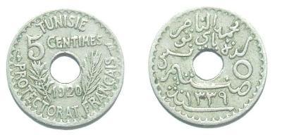 Tunis 5 C 1920 varianta 17 mm