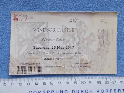 Anglie Velká Británie  Windsor hrad sídlo vstupenka lístek