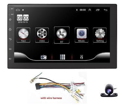 NOVÉ 2DIN UNIVERZÁLNÍ AUTORÁDIO S KAMEROU, ANDROID 9.1, WIFI GPS USB