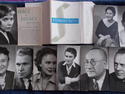 Foto Rosegnal  pohlednice Československo herec herečka sada soubor 1