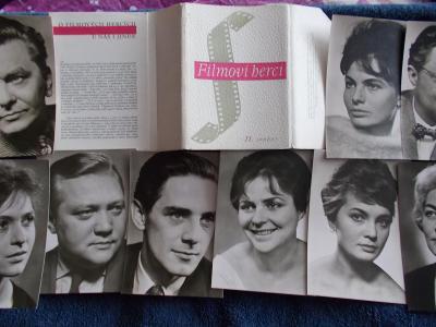Foto Rosegnal  pohlednice Československo herec herečka sada soubor 2