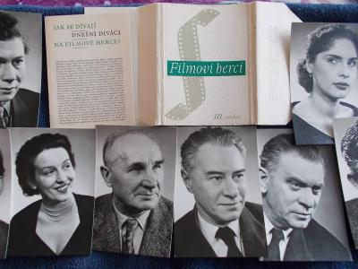 Foto Rosegnal  pohlednice Československo herec herečka sada soubor 3