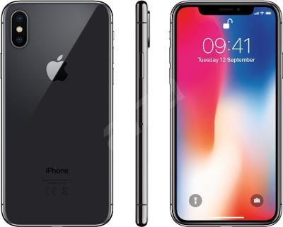 Mobilní telefon iPhone X 64GB Vesmírně šedý