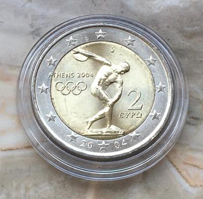 2 EURO PAMĚTNÍ MINCE ŘECKO 2004 - OLYMPIÁDA - UNC