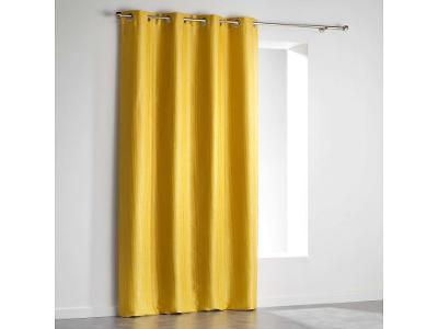 VELVET PALEO okenní závěs žlutá, 140 x 240 cm
