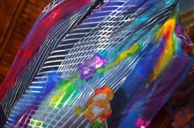 Úpletový šál krásně zbarvený