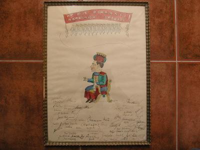 At žije ochránce národních správců  kolorovaná kresba signace podpisy