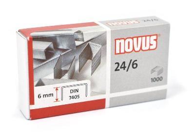 Nové kancelářské sponky Novus 24/6 DIN 7405 - 10 krabiček