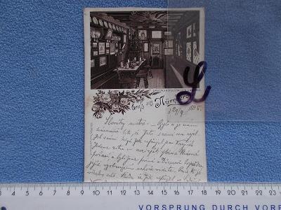 Německo DR  koláž lito Norimberk Nürnberg DA hospoda klobása lokál