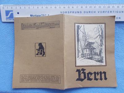 Leták propagace reklama Turista příručka plán Švýcarsko Bern