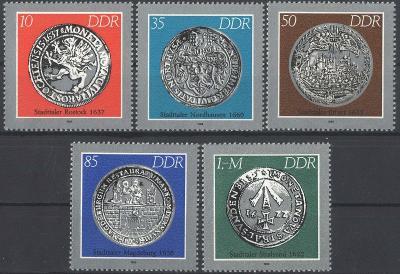 DDR 1986 Staré mince Mi# 3040-44 1330