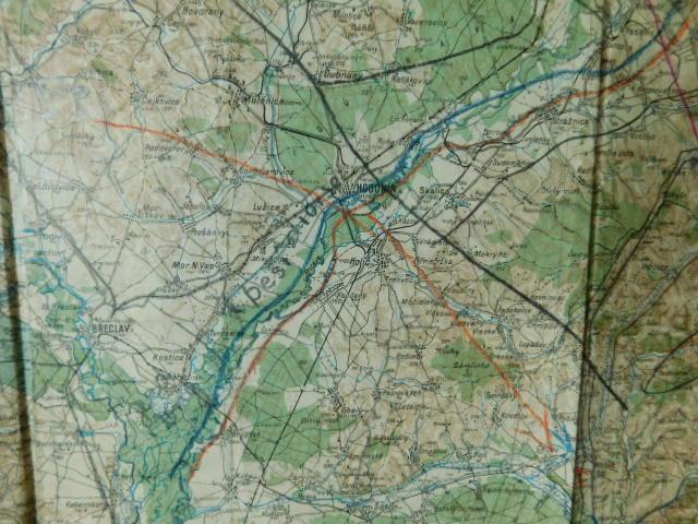 Legie - Pleský,Švec - Vojenská Mapa - 1924 - Brno - Hodonín - Přerov - Antikvariát