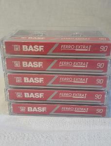Audio Kazeta BASF Ferro Extra 1 90 Kolekce 6ks MC Germany