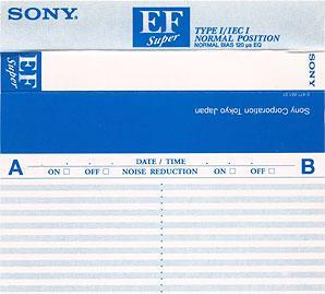 Audio Kazeta SONY EF 90 Blue 3ks MC