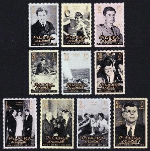 Fudžajra 1965 Prezident John Fitzgerald Kennedy Mi# 28-39 Kat 14€ 1249
