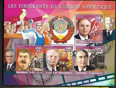 Madagaskar - Brežněv, Chruščov, Gorbačov, Stalin