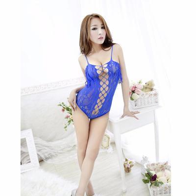 Sexy spodní prádlo- síťované body- modré - 3598a.