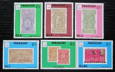 Paraguay 1990 LOH Barcelona s kupónem Mi# 4445-49 Kat 17€ 1265