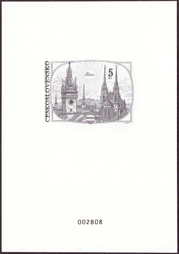 ČR - PŘÍLEŽITOSTNÝ TISK, OCELORYTINA BRNO 5 KČS (T9355) - Filatelie