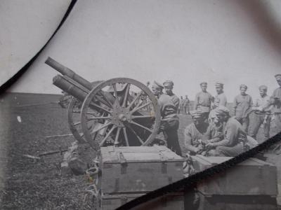 Armáda I.světová válka voják dělostřelec kanon legie 4.baterie těžkých