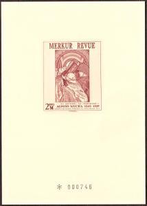 ČR - PŘÍLEŽITOSTNÝ TISK, MERKUR REVUE 2001, A. MUCHA (T9357)