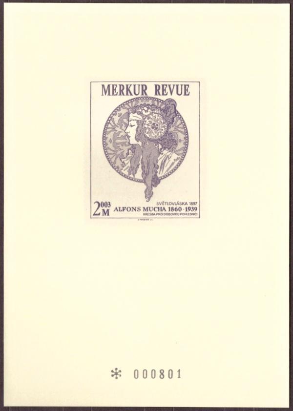 ČR - PŘÍLEŽITOSTNÝ TISK, MERKUR REVUE 2003, A. MUCHA (T9359) - Filatelie