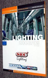 SEC LIGHTNING 2008/2009 KATALOG SVÍTIDEL PRO VOZIDLA ŽELEZNICE MHD