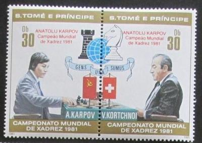 Svatý Tomáš 1981 MS v šachu přetisk TOP SET Mi# 712-13 Kat 16€ 1274