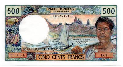 Nová Kaledonie (NOUMEA) 500 francs ND69 UNC - Pick 60a
