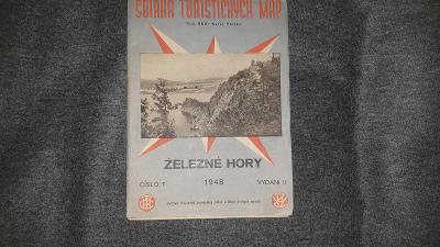 Sbírka turistických map-Železne Hory-1948