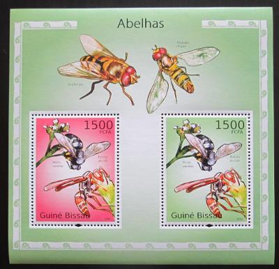 Guinea-Bissau 2010 Včely Mi# Block 871 Kat 12€ 1236
