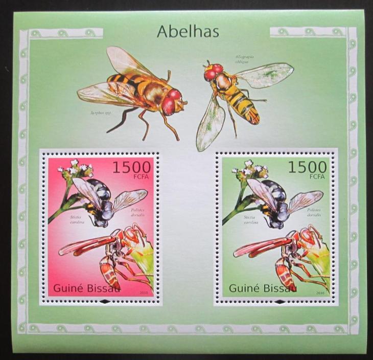 Guinea-Bissau 2010 Včely Mi# Block 871 Kat 12€ 1236 - Filatelie