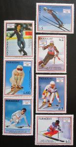Paraguay 1990 ZOH Albertville s kupónem Mi# 4471-75 Kat 8€ 1200