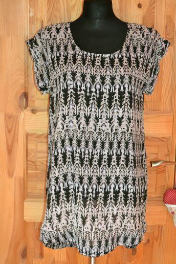Super vzorované šifónové šaty (tunika) H&M, vel. S