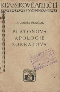 Platón, Z. Řezníček: Platonova apologie Sokratova. 1929