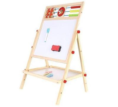 Kruzzel 9449 Multifunkční oboustranná tabule pro děti 42 x 32 + dárek