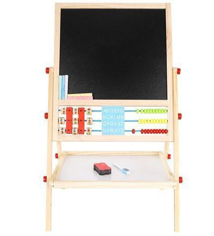 Kruzzel 9449 Multifunkční oboustranná tabule pro děti 42 x 32 + dárek - Kancelář