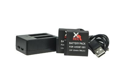 2x Baterie + Nabíječka USB AHDBT-501 GoPro HERO 5