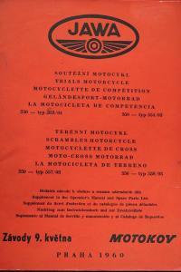 Origo LIBENAK  návod seznam terénní soutěžní JAWA 250 553 350 554 1960