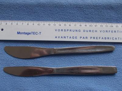 Starý příbor zdobený nůž nerezový 2 kusy