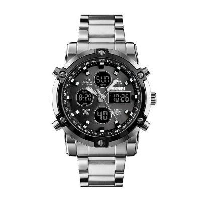 Hodinky SKMEI 1389 - pánské sportovní digitální vodotěsné hodinky SLV