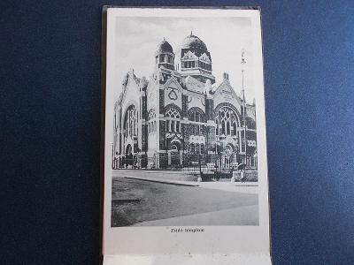 Maďarsko Eger Židovská synagoga Jude temple leporelo rozkládací pohled