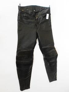 Kožené kalhoty- vel. XL/54, chrániče kolen