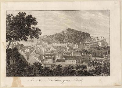 Pohled na Karlovy Vary, 1832