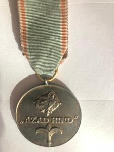 Vyzn.Azad-Hind 1942-1945 medaile ve zlatě