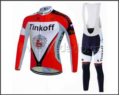zimní komplet cyklo dres Tinkoff vel. XXXXL -ted