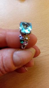 postříbřený prsten,nový vel 8