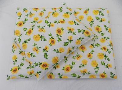 Luxusní bavlněná ložní souprava Rozkvetlá slunečnice